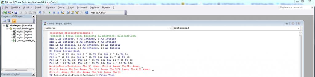 Come sbloccare un file Excel