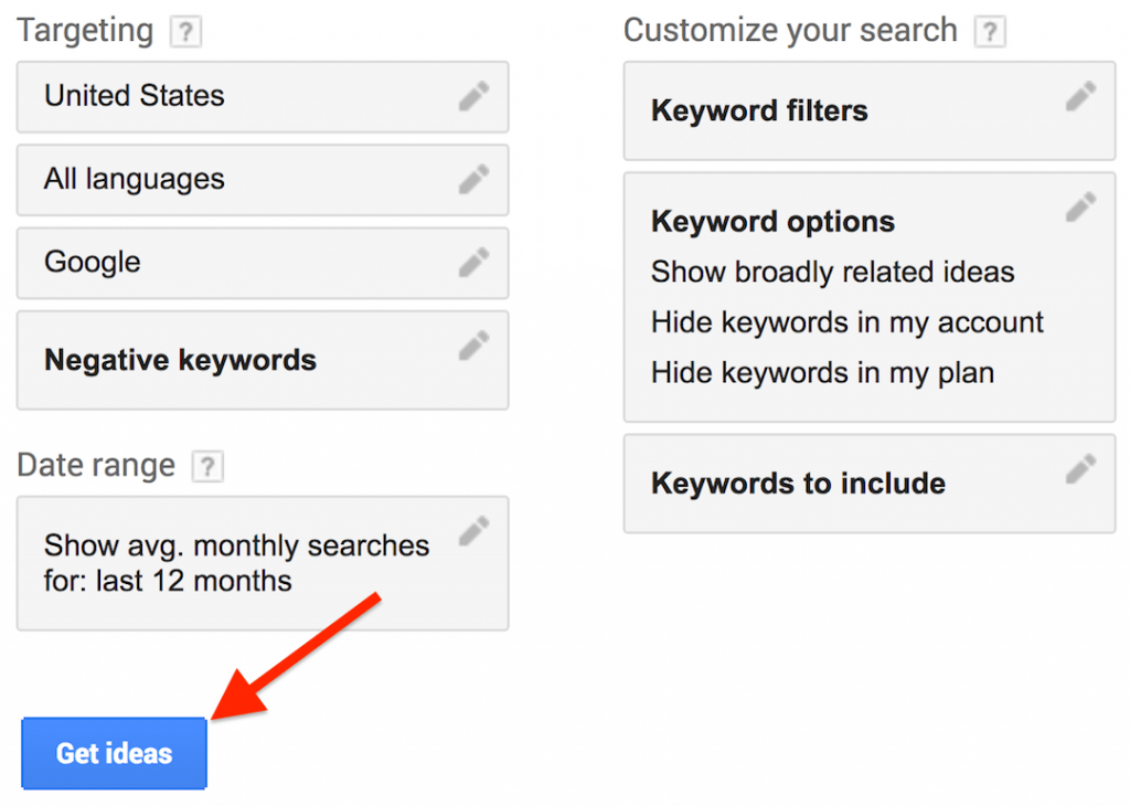 Google keyword planner: la guida definitiva