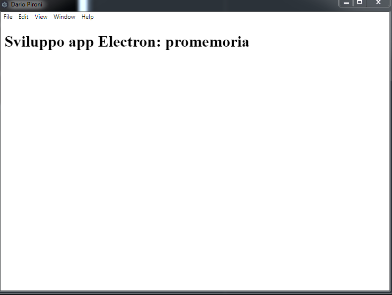 Sviluppo app Electron