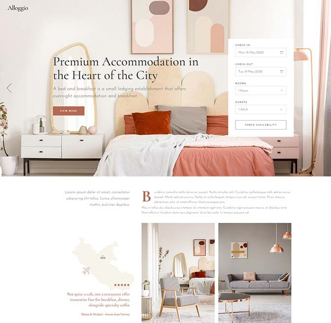 realizzazione sito web per bed and breakfast10